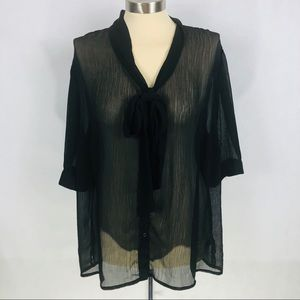 Mossimo sheer 22W/24W blouse Bow